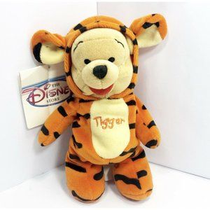 The Disney Store Winnie The Pooh As Tigger Plush